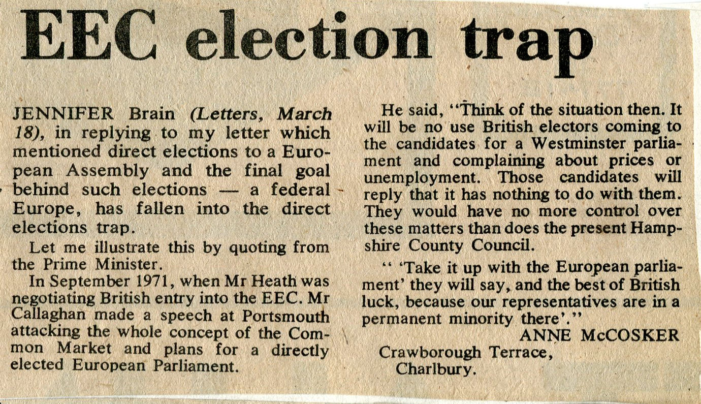 Anti EEC article, 1976